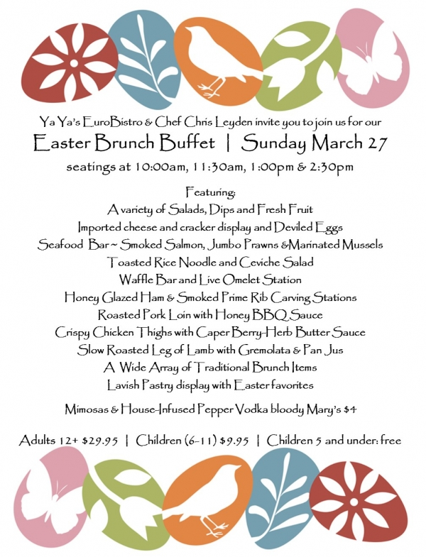 Easter Brunch: Sunday March 27