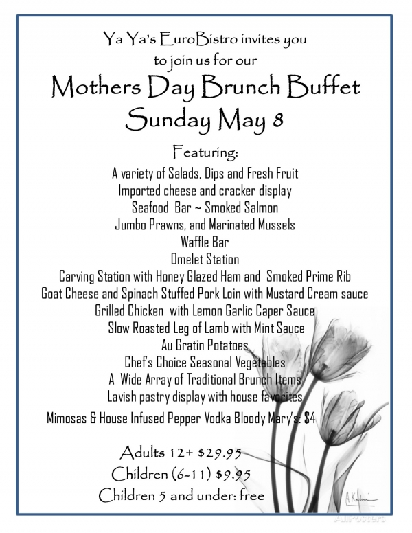 Mother's Day Brunch at YaYa's EuroBistro